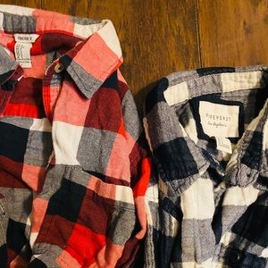 Forever 21 Flannel tops size S
